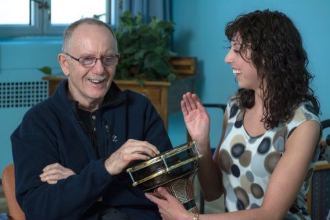 Find Your Voice Music Therapy. Halifax, Nova Scotia. Kingston, Ontario. Mackenzie Costron. Accredited Music Therapist. Registered Counselling Therapist. Providence Care. Senior. Drumming. Laughter. Movement. Rhythm. Fun.
