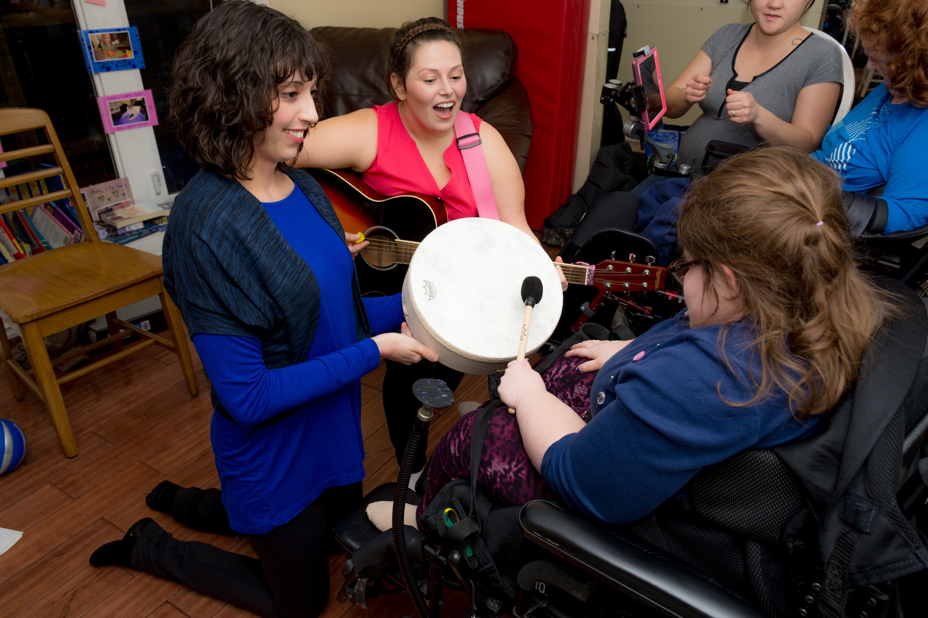 Find Your Voice Music Therapy. Kimberly Dolan. Mackenzie Costron. Accredited Music Therapists. Drumming. Deaf Blind. Kingston, Ontario. Halifax, Nova Scotia
