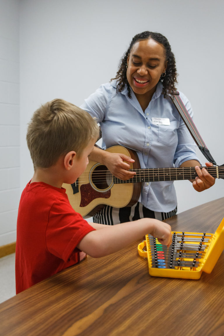 Hayley Francis Cann. Find Your Voice Music Therapy. Guitar. Xylophone. Music Therapy. Kingston, Ontario.