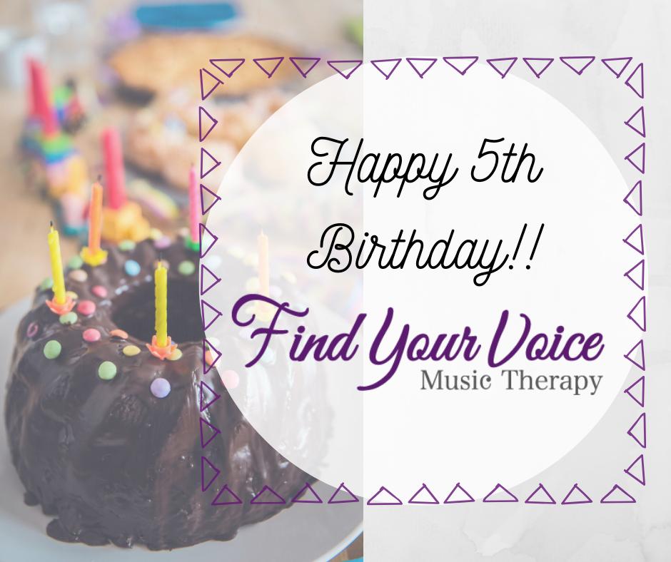 Find Your Voice Music Therapy. Kingston. Ontario. Katarokwi. Halifax. Nova Scotia. Kjipuktuk. Canada. Turtle Island. 5th Birthday.