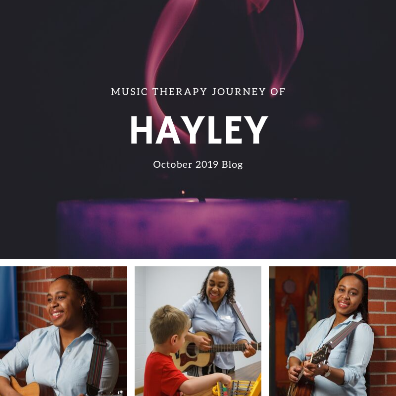 Hayley Francis Cann. Music Therapy. Journey. Certified. Music Therapist. Kingston, Ontario.