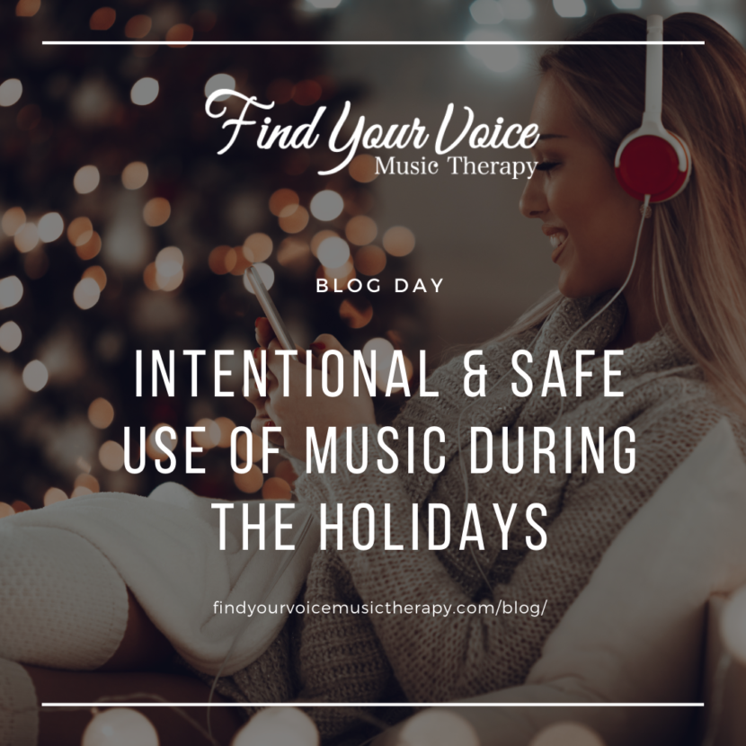 Music Therapy. Counselling. Online. Virtual. Holiday Music. Intentional. Safe.